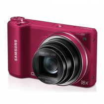 """Samsung WB250F 14.2MP CMOS Smart WiFi Digital Camera with 18x Optical Zoom, 3.0"""" Touch Screen LCD and 1080p HD Video (Red)"""