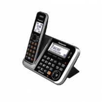 Panasonic Cordless Phone DECT, Black/Silver- KXTG7841