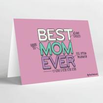 Mukagraf, Best Mom Ever, Greeting Card